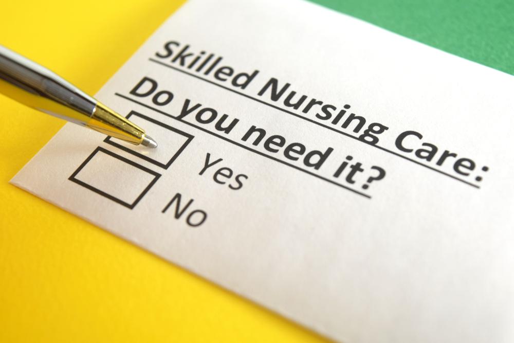 Do you need skilled nursing checklist